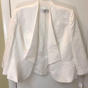 White patterned Dress Barn Blazer.